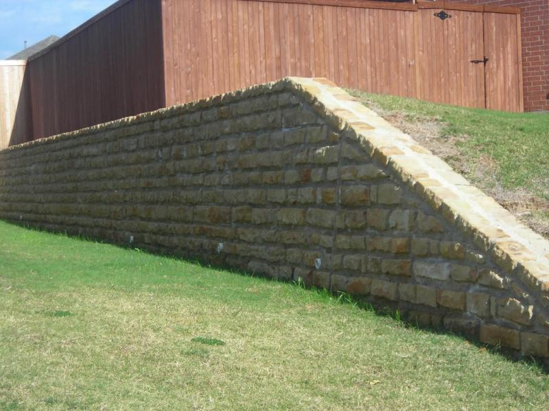 Grapevine retaining walls