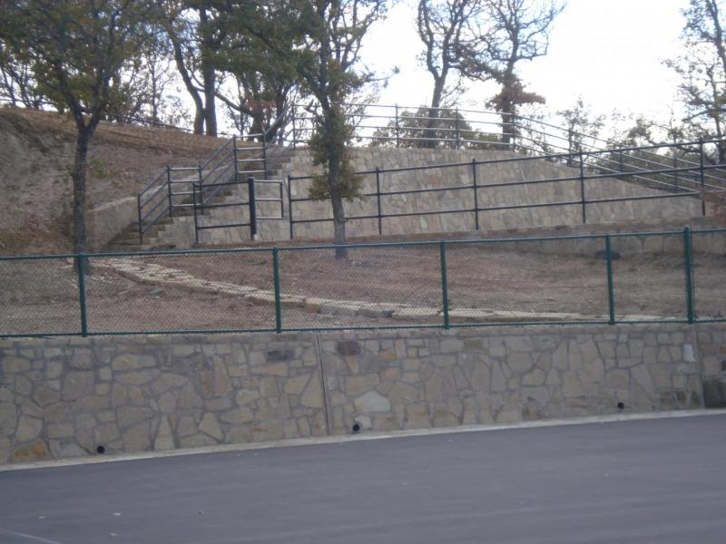 Sherman retaining walls